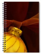 Golden Ornament With Red Ribbons Spiral Notebook
