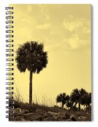 Golden Palm Silhouette Spiral Notebook