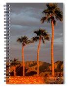Golden Palm Trees Spiral Notebook