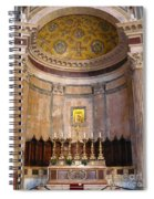 Golden Pantheon Altar Spiral Notebook