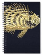 Golden Parrot Fish On Charcoal Black Spiral Notebook