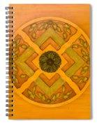 Golden Pattern 1 Spiral Notebook