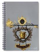 Golden Pharmacy Sign Spiral Notebook