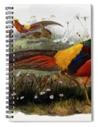 Golden Pheasants Spiral Notebook