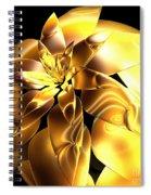 Golden Pineapple By Jammer Spiral Notebook