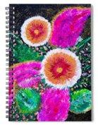 Golden-pink Spiral Notebook