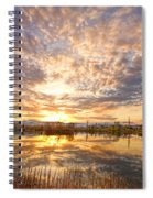 Golden Ponds Scenic Sunset Reflections 2 Spiral Notebook