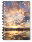 Golden Ponds Scenic Sunset Reflections 3 Spiral Notebook
