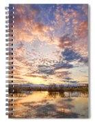 Golden Ponds Scenic Sunset Reflections 4 Spiral Notebook