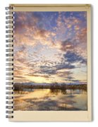 Golden Ponds Scenic Sunset Reflections 4 Yellow Window View Spiral Notebook