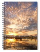 Golden Ponds Scenic Sunset Reflections 5 Spiral Notebook