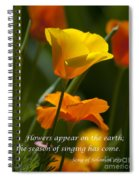 Golden Poppy Floral  Bible Verse Photography Spiral Notebook