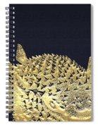 Golden Puffer Fish On Charcoal Black Spiral Notebook