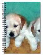 Golden Puppies Spiral Notebook