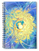 Golden Reflection Spiral Notebook