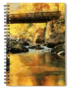 Golden Reflection Autumn Bridge Spiral Notebook