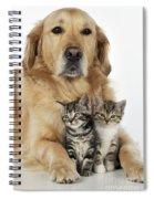 Golden Retriever And Kittens Spiral Notebook