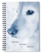Golden Retriever Dog Let It Snow Holiday Card Spiral Notebook