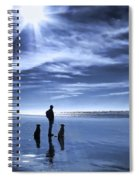 Golden Retriever Dogs End Of The Day Spiral Notebook