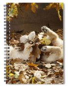 Golden Retriever Puppy In Leaves Spiral Notebook