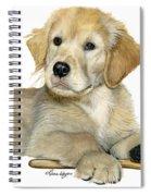 Golden Retriever Puppy Spiral Notebook