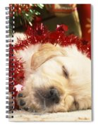Golden Retriever Under Christmas Tree Spiral Notebook