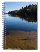Golden Ripples Bedrock - Fall Reflection Tranquility Spiral Notebook