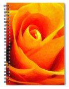Golden Rose - Digital Painting Effect Spiral Notebook