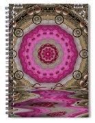 Golden Sacred Sun Spiral Notebook