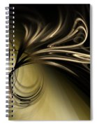 Golden Scroll Spiral Notebook