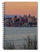 Golden Seattle Skyline Sunset Spiral Notebook