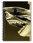 Golden Shark In Ocean City Spiral Notebook