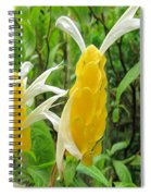 Golden Shrimp Plant Or Lollipop Plant Spiral Notebook