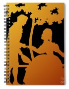 Golden Silhouette Garden Proposal Will You Marry Me Spiral Notebook