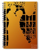 Golden Silhouette Of Couple Embracing Spiral Notebook