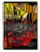 Golden Stained Abstract Spiral Notebook