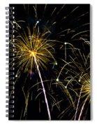 Golden Starburst Spiral Notebook
