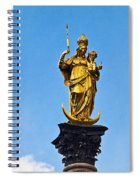 Golden Statue Of The Virgin Mary In Munich Germany Spiral Notebook
