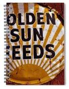 Golden Sun Feeds Spiral Notebook