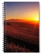 Golden Sunrise Over Farmland Spiral Notebook