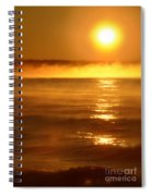 Golden Sunrise Over The Water Spiral Notebook