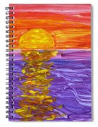 Golden Sunset 2 Spiral Notebook