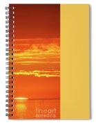 Golden Sunset Glow Spiral Notebook