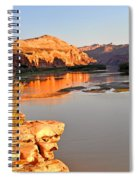 Golden Sunset On The Colorado Spiral Notebook