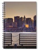 Golden Sunset Over Boston Spiral Notebook