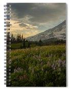 Golden Sunstar Rainier Meadows Spiral Notebook