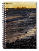 Golden Superior Shore Spiral Notebook