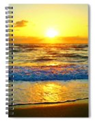 Golden Surprise Sunrise Spiral Notebook