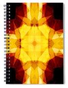 Golden Textured Triangles Spiral Notebook
