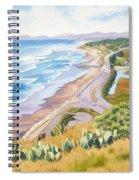 Golden View From Torrey Pines Spiral Notebook